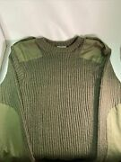 Supergrade Genuine British Army Olive Jersey Jumper Pullover Military Wool 106cm