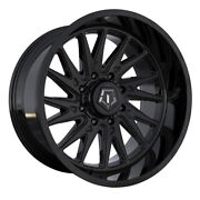 Tis 547b 20x12 8x180 Et-44 Gloss Black With Milled And Painted Lip Logo Qty Of 4