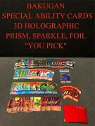 Bakugan Special Ability Cards Foil Holographic Lenticular Battle Gear You Pick