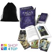 Pagan Tarot Card Deck And Book Set Kit Lo Scarabeo Gina M Pace With A Bag New