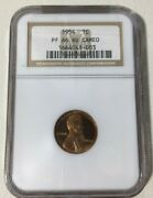 1954 Lincoln Cent Pf 66 Rd Cameo Nice Old Fat Holder Looks Better