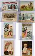 Set Of Sewing And Clothing Trade Cards