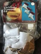 Walco Vintage 2 Ornament Kits Santa Boots Sequined New 1972 One Opened