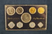 1970 Republic Of India 9-coin Proof Set In Plastic 71 Holder - Free Shipping Usa