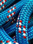 1 - 1 Inch X 100 Ft. Double Braidyacht Braid Polyester Rope.made In The Usa.