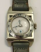 Very Rare Vintage Pery Ladies Solid 18k White Gold Manual Wind Watch Works