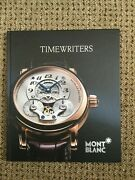 Mont Blanc Watch Book Collection 2011 To 2012 In Good Condition .