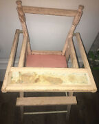 Vintage Toy Baby High Chair Wooden 27andrdquo Tall 11andrdquo Wide