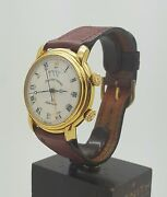 Vintage Rare Maurice Lacroix Masterpiece Reveal Automatic Alarm Day Date Gold Pt