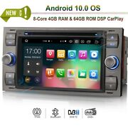 7android 10.0 Head Unit Radio Dvd Gps Navi For Ford Connect Fusion Focus Fiesta