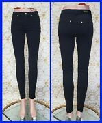 New Versus Versace Black Stretchy Jeans Size 26