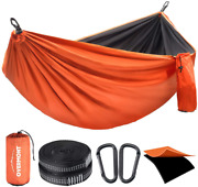 Overmont Double Layers Camping Hammock German Tuv Certificated Portable Outdoor
