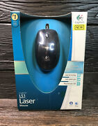 😎logitech Ls1 Laser Wired Mouse New Usb 😎