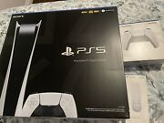 Sony Ps5 Digital Edition Console - White Plus Additional Remote In Hand