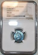 Ngc Ms-64 Bn 1863 Indian/union For Ever Civil War Token F-100/341a R-6