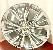 Set Of 4 Factory Gm Triple Chrome Plated 20 X 8.5 Wheels Fit Most Cadillac