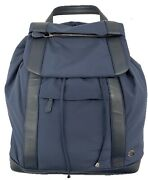 Loro Piana Blue Voyager Backpack With Leather Trim Made In Italy