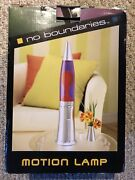 Vintage Lava Lite Motion Glitter Lamp 19andrdquo Space Rocket Style Light Red Wax W/box