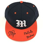 """Mike Trout Millville Meteor"""" Signed Millville High School Hat Mlb Hologram Holo"""
