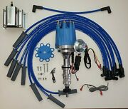 Ford Fe 390 427 428 Small Blue Cap Hei Distributor + 60k Coil + 8.5mm Plug Wires