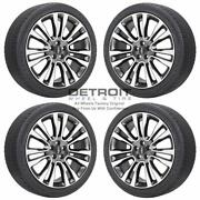 20 Lincoln Continental Machined Grey Wheels Rims And Tires Oem Set 4 2017-20...