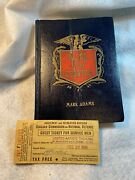 1942 Wwii Stateside Soldier Clerk Training Diary 18 Ds Pages Ua Theater Ticket