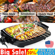 220v Non-stick Durable Electrothermal Barbecue Plate Fast Bbq Smokeless Grill Us