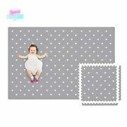 Baby Play Mat With Fence Non Toxic Puzzle Floor Foam Tile Extra Large 4ft X 6ft