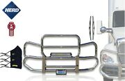 Kozak Kenworth T680 Truck Grille Deer Moose Brush Bumper Guard Herd 300 + Set