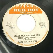Earl Williamson Red Hot Records Nashville Country 45 Rare Rockabilly Wlp Hear