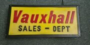 Vauxhall Parts Dept 1960s Dealership Sign Partially Re-built Very Nice Item