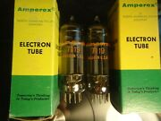 Amperex 7119 E182cc Nos Pair Usa Made New Old Stock Tested 100 Vintage Valves