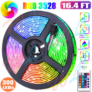 Led Fairy Strip Lights Rgb Christmas For Room Bar Tv 5m 16.4ft Kit With Remote