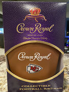 Crown Royal Kc Chiefs Game Day Football Bag, Box Empty Bottle Limited Edition
