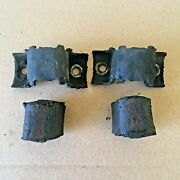 Original Oem 64-72 Gm A Body Front Sway Bar Bushings And Brackets Gto Chevelle