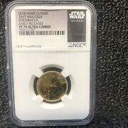 2017 Niue G25 Star Wars Gold Chewbacca Pf70 Early Releases Ultra Cameo Top Pop