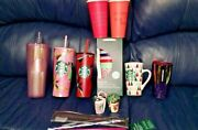Lot Starbucks Cups 2020 Ornament And Straws Plus Other Year Items