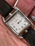 Hermes Stainless Steel Cape Cod Ladies Watch Double Wrap Strap