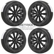 18 Ford Escape Gloss Black Wheels Rims And Tires Oem Set 4 2013-2019 10110