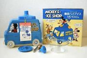 Mickey Mouse Ice Shaver Machine Car In Box Zojirushi High Ice Md-1000n Vintage