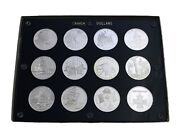 1976 - 2006 Canadian Silver Proof Dollar, Set Of 36 Coins, With Capital Holders