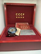 Cccp Cp-7060 Menand039s Silver Stainless Steel Blue Dial Automatic Wrist Watch Bw48