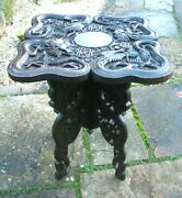 Beautifully Carved Chinese Antique Folding Side Table