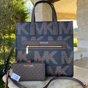 Nwt Signature Kenly Lg Ns Tote/ Double Zip Wristlet Options