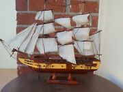 Wooden Uss Constitution Tall Model Ship 10