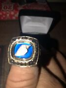 Nascar 2003 Busch Series Championship Ring 32 G Yellow Gold Team Issued Size 9
