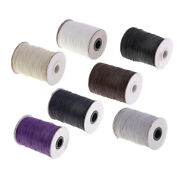 170m 1mm Braided Waxed Cotton Rope Cord Bracelet String Multi-purpose Diy Crafts