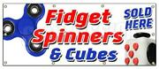 Fidget Spinner And Cube Banner Sign Tri-spinner Edc Toy Stress Reducer Adhd Fydget