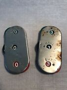 Andnbsp2 Vintage Baseball Ball Strike Out Counter Pair Clicker Stainless Steel Japan