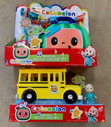 Cocomelon Yellow Jj School Bus With Sound And Musical Doctors Checkup Kit